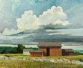 Fine Art - Painting, American:Contemporary   (1950 to present)  , ERIC SLOANE (American, 1910-1985). Summer. Oil study onboard. 20-1/2 x 25 inches (52.1 x 63.5 cm). Signed lower left: ...
