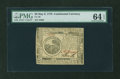 Colonial Notes:Continental Congress Issues, Continental Currency May 9, 1776 $6 PMG Choice Uncirculated 64EPQ....