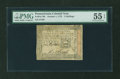 Colonial Notes:Pennsylvania, Pennsylvania October 1, 1773 5s PMG About Uncirculated 55 EPQ....