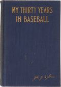 "Baseball Collectibles:Others, 1923 ""My Thirty Years in Baseball"" by John McGraw. ..."