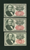 Fractional Currency:Fifth Issue, 25c Fifth Issue Three Examples.. ... (Total: 3 notes)