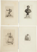 Antiques:Posters & Prints, Exceptional Group of Nine Engraved Illustrations of Sculpture....(Total: 9 Items)