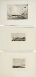 Antiques:Posters & Prints, Exceptional Group of Six Engraved Seaside Illustrations.... (Total:6 Items)