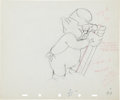 animation art:Production Drawing, The Practical Pig Animation Production Drawing Original Art(Disney, 1939)....