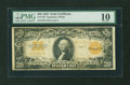 Large Size:Gold Certificates, Fr. 1187 $20 1922 Gold Certificate PMG Very Good 10....