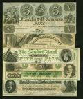 Confederate Notes:1862 Issues, A T41 and Four Obsoletes.. ... (Total: 5 notes)