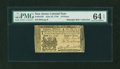 Colonial Notes:New Jersey, New Jersey June 22, 1756 18d PMG Choice Uncirculated 64 EPQ....