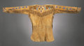 American Indian Art:Beadwork and Quillwork, A CROW BEADED HIDE SCOUT SHIRT. c. 1880...