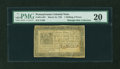 Colonial Notes:Pennsylvania, Pennsylvania March 16, 1785 1s6d PMG Very Fine 20....
