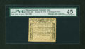 Colonial Notes:Massachusetts, Massachusetts October 18, 1776 4s6d PMG Choice Extremely Fine45....