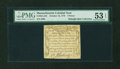 Colonial Notes:Massachusetts, Massachusetts October 16, 1778 3d PMG About Uncirculated 53 EPQ....