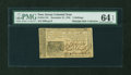 Colonial Notes:New Jersey, New Jersey December 31, 1763 3s PMG Choice Uncirculated 64 EPQ....