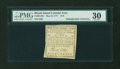 Colonial Notes:Rhode Island, Rhode Island May 22, 1777 $1/9 PMG Very Fine 30....