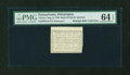 Colonial Notes:Pennsylvania, Pennsylvania August 6, 1789 3d Bank of North America PMG ChoiceUncirculated 64 EPQ....