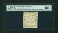 Colonial Notes:Pennsylvania, Pennsylvania Middle-Ferry on Schuylkill January 18, 1777 5d PMG GemUncirculated 66 EPQ....