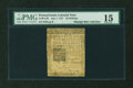 Colonial Notes:Pennsylvania, Pennsylvania July 1, 1757 20s PMG Choice Fine 15....
