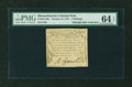 Colonial Notes:Massachusetts, Massachusetts October 16, 1778 2s PMG Choice Uncirculated 64 EPQ....