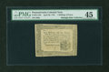 Colonial Notes:Pennsylvania, Pennsylvania April 20, 1781 1s6d PMG Choice Extremely Fine 45....