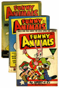 Golden Age (1938-1955):Funny Animal, Funny Animals Group (Fawcett, 1943).... (Total: 4 Comic Books)
