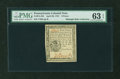 Colonial Notes:Pennsylvania, Pennsylvania April 20, 1781 9d PMG Choice Uncirculated 63 EPQ....