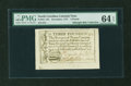 Colonial Notes:North Carolina, North Carolina December, 1771 £3 PMG Choice Uncirculated 64 EPQ....