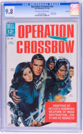 Silver Age (1956-1969):Horror, Movie Classics: Operation Crossbow - File Copy (Dell, 1965) CGCNM/MT 9.8 Off-white to white pages....