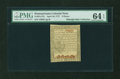 Colonial Notes:Pennsylvania, Pennsylvania April 10, 1777 9d PMG Choice Uncirculated 64 EPQ....