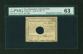 Colonial Notes:New Hampshire, New Hampshire April 29, 1780 $1 PMG Choice Uncirculated 63....