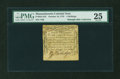 Colonial Notes:Massachusetts, Massachusetts October 18, 1776 4s PMG Very Fine 25....