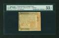 Colonial Notes:Pennsylvania, Pennsylvania March 20, 1771 5s PMG About Uncirculated 55 EPQ....