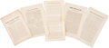 Political:Small Paper (1896-present), Woman's Suffrage: Nineteenth Century Suffrage Leaflets.... (Total: 5 Items)