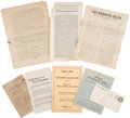 Political:Small Paper (1896-present), Woman's Suffrage: Suffrage Documents.... (Total: 8 Items)