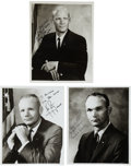 Autographs:Celebrities, Apollo 11 Crew: Signed Individual Matching Photos.... (Total: 3 Items)
