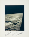 Autographs:Celebrities, Apollo 17 Crew-Signed Large Color Taurus-Littrow Photo Directly from the Personal Collection of Mission Command Module Pilot R...
