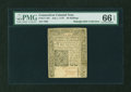 Colonial Notes:Connecticut, Connecticut July 1, 1775 40s PMG Gem Uncirculated 66 EPQ....
