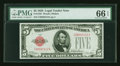 Small Size:Legal Tender Notes, Fr. 1525 $5 1928 Legal Tender Note. PMG Gem Uncirculated 66 EPQ.. ...
