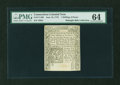 Colonial Notes:Connecticut, Connecticut June 19, 1776 1s6d PMG Choice Uncirculated 64....