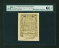 Colonial Notes:Rhode Island, Rhode Island May 1786 20s PMG Gem Uncirculated 66 EPQ....