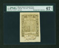 Colonial Notes:Rhode Island, Rhode Island May 1786 40s PMG Superb Gem Unc 67 EPQ....