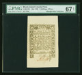 Colonial Notes:Rhode Island, Rhode Island May 1786 2s6d PMG Superb Gem Unc 67 EPQ....