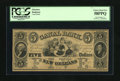 Obsoletes By State:Louisiana, New Orleans, LA- Canal Bank $5 18__. Five lovely sirens flanked by portraits of Washington and Lafayette are found on this $...