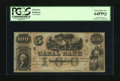 Obsoletes By State:Louisiana, New Orleans, LA- Canal Bank $100 18__. A detailed antebellum dock scene is found on this remainder that has been well preser...