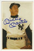 """Autographs:Sports Cards, 1982 TCMA Mickey Mantle #19 Signed Card. On the surface of theoffered 4x6"""" card from a 1982 TCMA issue we offer this spark..."""