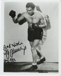 """Boxing Collectibles:Autographs, Max Schmeling Signed Photograph. Popular 8x10"""" image of the German heavyweight Max Schmeling has been signed by the HOFer a..."""