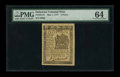 Colonial Notes:Delaware, Delaware May 1, 1777 3d PMG Choice Uncirculated 64....