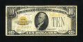 Small Size:Gold Certificates, Fr. 2400 $10 1928 Gold Certificate. Fine.. This $10 Gold possesses nice edges and color for the grade....