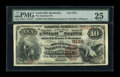 National Bank Notes:Kentucky, Louisville, KY - $10 1882 Brown Back Fr. 490 The Southern NB Ch. #5195. ...
