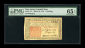 Colonial Notes:New Jersey, New Jersey March 25, 1776 3s PMG Gem Uncirculated 65 EPQ....