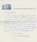 """Autographs:Letters, Jimmie Crutchfield Handwritten Signed Letter. Polite letter fromthis Negro League star to a collector offers """"...a card au..."""