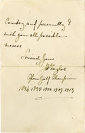 Golf Collectibles:Autographs, 1924 John H. Taylor Handwritten Letter with Fantastic Content. Along with Harry Vardon and James Braid, Taylor formed Brita...